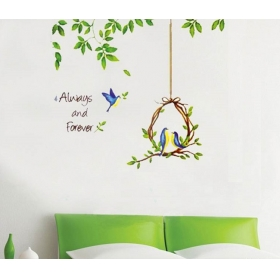 Ay1703 Love Birds Nature Wall Sticker  Jaamso Royals