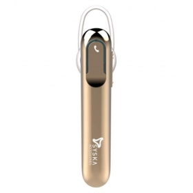 Gadget Ghar Syska Lb300 Bluetooth Headset - Golden
