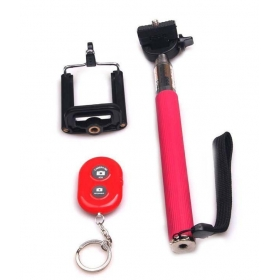 Selfie Stick With Blutooth Remote- Android And Ios Phones