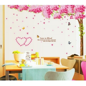 Ay212 Beautiful Pink Tree Nature Wall Sticker  Jaamso Royals
