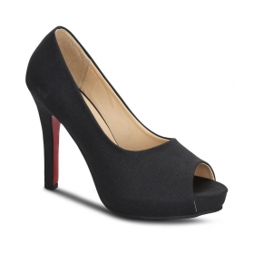 Sherrif Shoes Black Stiletto Heels