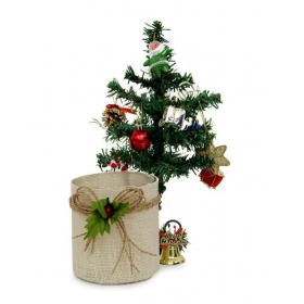 Christmas Tree 2 Ft With Merry Christmas Bell And Tea Light Holder
