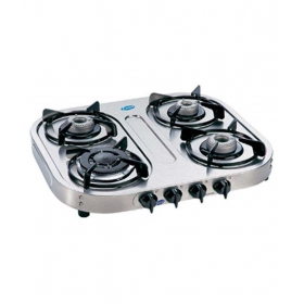 Glen Gl 1041 Ss Al 4 Burner Steel Manual Gas Stove