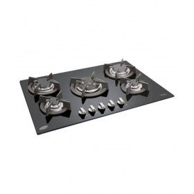 Glen Gl 1075 Tr 5 Burner Glass Auto Built In Hob