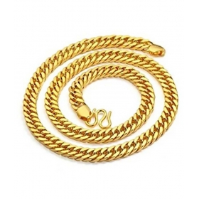 Alloy Gold Plating Studded Gold Coloured Chain