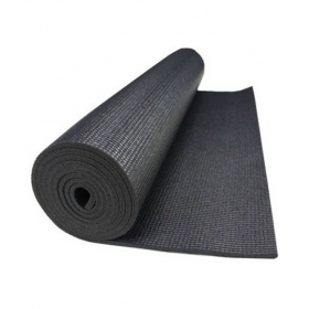 Yoga Mat Black 4 Mm Extra Long, Anti Slip, Good Grip, Reversible & Washable For Yoga, Exercise & Meditation (2 Feet X 6 Feet)