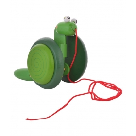 Green Snail Pull Along Toy