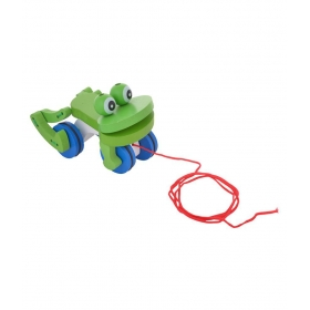 Multicolour Frog Pull Along Toys