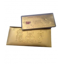 24kt Gold Plated Indian Currency Note With Gold Plated Envelope