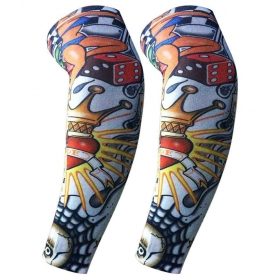 Dust Mo0976 Printed Multicolor Nylon Fake Art Tattoo Arm Sleeve - 1 Pair