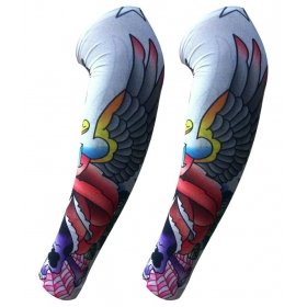 Mo0977 Printed Multicolor Nylon Fake Art Tattoo Arm Sleeve - 1 Pair
