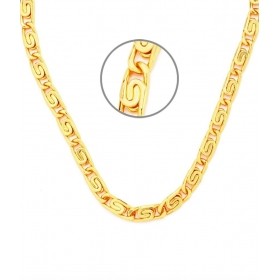 18 Inches Long Honey Singh Interlocked Men's Chain By Goldnera