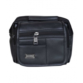 Black Leather Formal Bag For Men