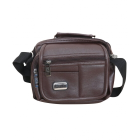 Brown Leather Sling Bag For Men