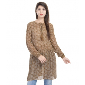 Brown Poly Georgette Tunics