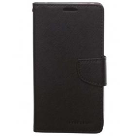 Mercury Diary Flip Cover For Samsung Galaxy J7 J700f - Black