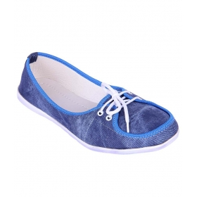Denim Blue Ballerinas For Women