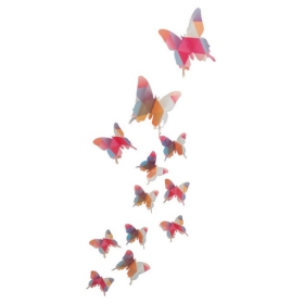 Hd-006 Multicolour  Butterfly  Wall Sticker  Jaamso Royals