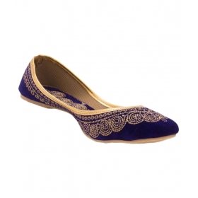 Blue Flat Ethnic Footwear