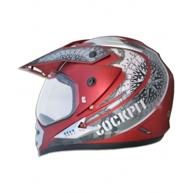 Green Stone Cockpit Bluetooth - Full Face Helmet Red M