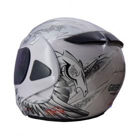 Green Stone Hnicon Bluetooth Helmet - Open Face Helmet White L