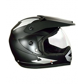 Green Stone Matte Black Plain Bluetooth - Full Face Helmet Matte Black L