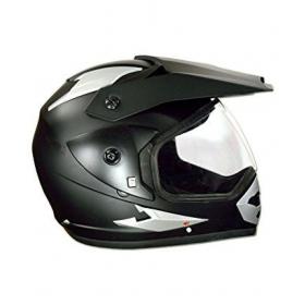 Green Stone Matte Black Plain Bluetooth - Full Face Helmet Matte Black L