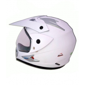 Green Stone Moto-x Plane Bluetooth - Full Face Helmet White L