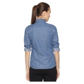 Full Sleeves Stylish Denim Shirt