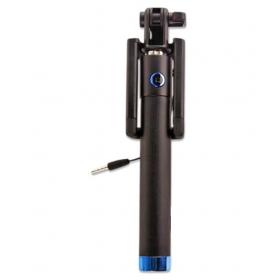 Black Aux Wire Selfie Stick - 78 Cm