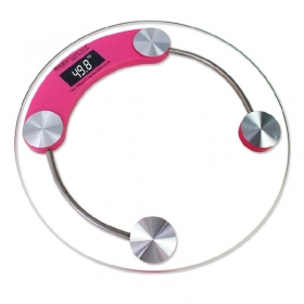 Digital Tempered Glass Personal Weighing Scale Pink