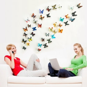 H1-004 Multicolour  Butterfly  Wall Sticker  Jaamso Royals