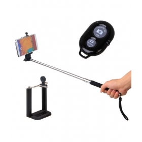 H&s Selfie Stick With Separate Bluetooth Camera Button Shutter