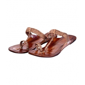 Brown Flat Ethnic Footwear