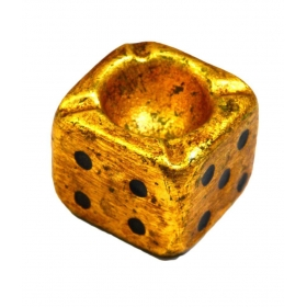 Handicrafted Dice Ash Tray Gold