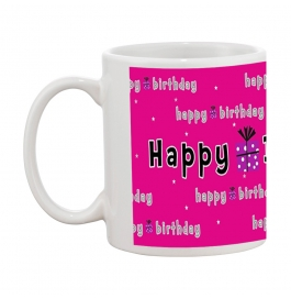 Happy Birthday Pink Gift Coffee Mug