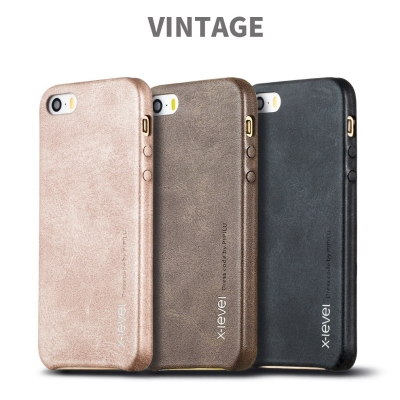 Vintage Leather Case Primium Quality For Apple Iphone 5-5s-5se