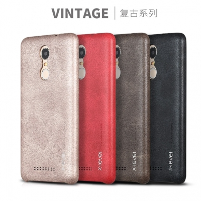 Vintage Leather Case Premium Quality For Mi Note 3