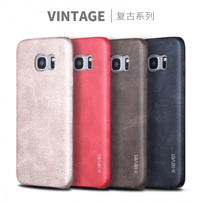 Vintage Leather Case Premium Quality For Samsung S7 Edge