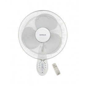 Havells 400 Mm Platina Remote Wall Fan White