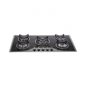 Hawkweed Italy Hw-015 5 Burner Glass Auto Built In Hob