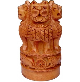 Wooden Ashoka Pen Holder Handicraft Showpiece - 12 Cm  (wooden, Brown)