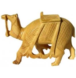 Wooden Camel Showpiece - 7 Cm  (wooden, Brown)