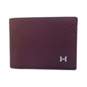 Hermes Leather Brown Formal Anti-theft Wallet