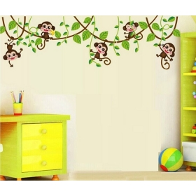Ay7247 Dancing Monkeys Nature Wall Sticker  Jaamso Royals