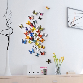 H1-001 Multicolour  Butterfly  Wall Sticker  Jaamso Royals
