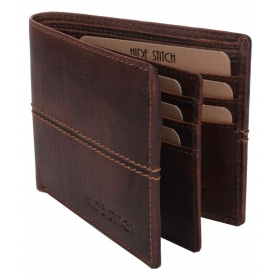 Hide Stitch Leather Brown Formal Regular Wallet