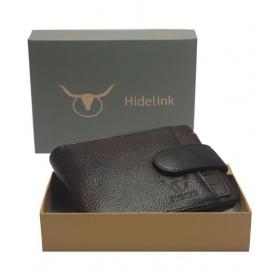 Hidelink Leather Brown Casual Regular Wallet