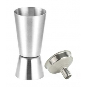 Silver Stainless Steel Peg Measure And Funnel