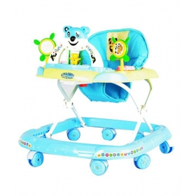 Panda Adjustable Walker Blue